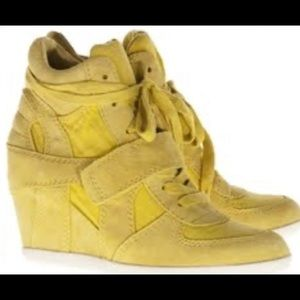 Ash Yellow Bowie Tie Up Wedge Sneaker Size 11